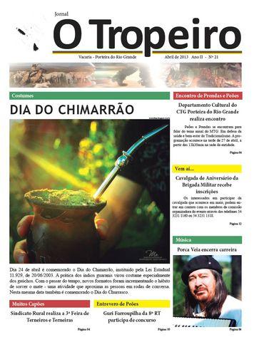 Jornal O Tropeiro de Abril de 2013