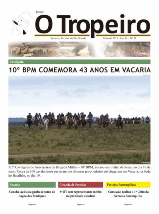 Jornal O Tropeiro de Maio de 2013