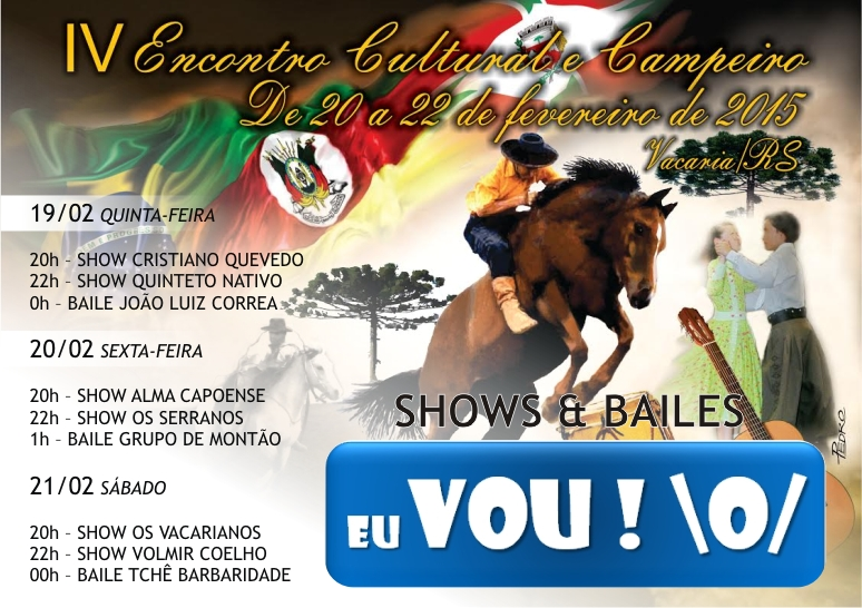 AGENDA SHOWS E BAILES