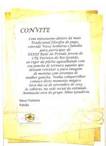 Convite Prenda